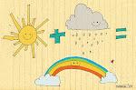 Um arco-íris é um abraço que o sol dá à chuva para fazer as nuvens escuras sorrir!