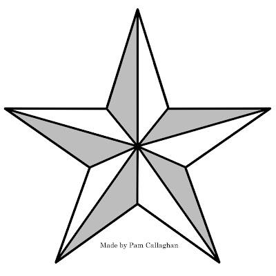 Large Star Template Large star template