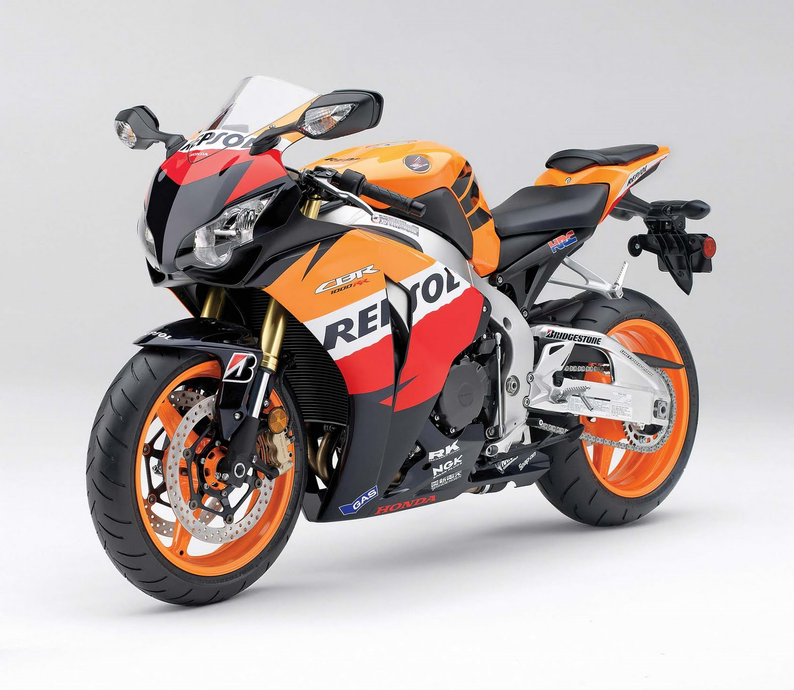 HONDA CBRRR REPSOL Edition LEGO Technic Mindstorms Model - Bridgestone custom stickers motorcycle