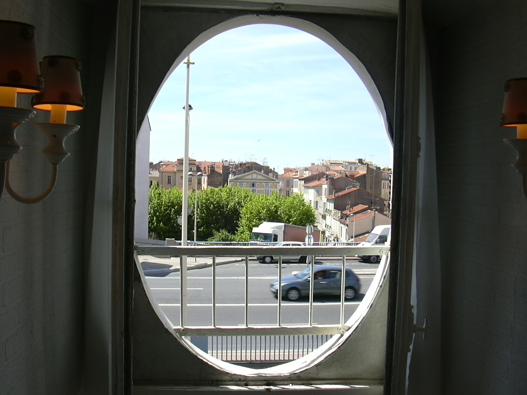 when the windows are open œil de bœuf circular window the trees you  #69492F