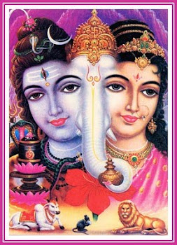 Aos Bem Amados Lord Shiva, Parvati Devi e Lord Ganesha