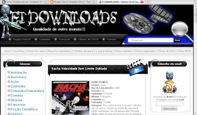 Template do ET downloads completo para blogspot
