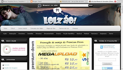 Template do LOLzao Convertido para blogger