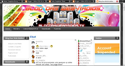 Template do Blog Das Web Radios