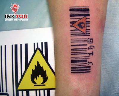 hand barcode tattoo designs