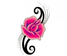 pink rose tattoo picture new style