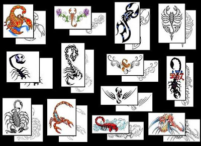 new scorpion tattoo designs small styles