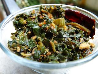 Spinach Thoran,Kerala