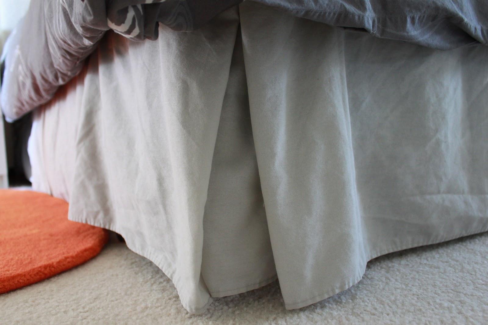 Orange Bed Skirt Twin