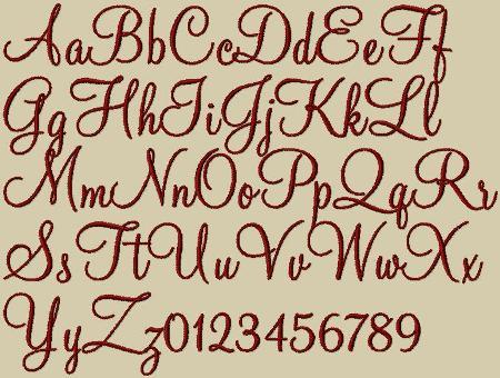 Fonts on Typography Printable Fancy Script Monograms