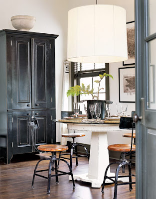 Under a paper moon rustic country industrial obsession for Rustic dining area