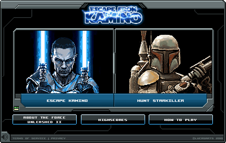 """Star Wars: The Force Unleashed II Facebook Application – Escape from Kamino"