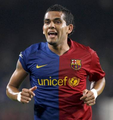 Foto Daniel Alves Barcelona FC