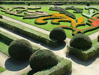 Baroque pleasure gardens at Kromeriz near Olomouc, Czech republic