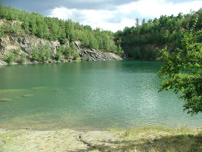 Swimming at the Vykleky Quarry outside Olomouc