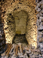 Some of the many thousands of bones in the Melnik bone church