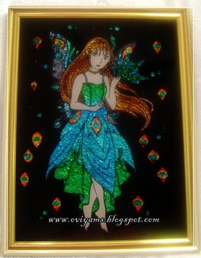 Oviyam Glass Painting, Art & Crafts: My Latest Glass Paintings
