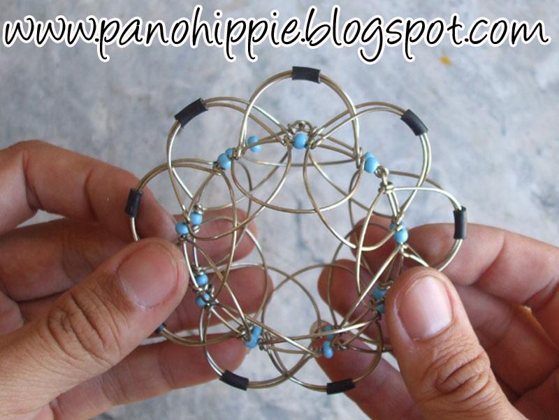 Pano Hippie Como fazer mandala tridimensional com arame