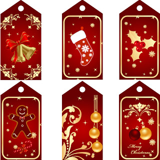 Free Printable Red Christmas Tags