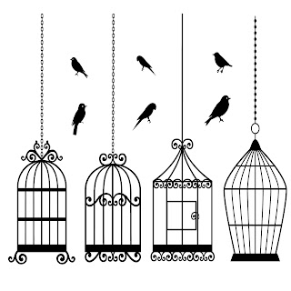 Free Digi Stamps | Bird Cage