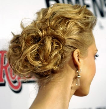 Whether she has short, long, or medium length hair, an updo style can