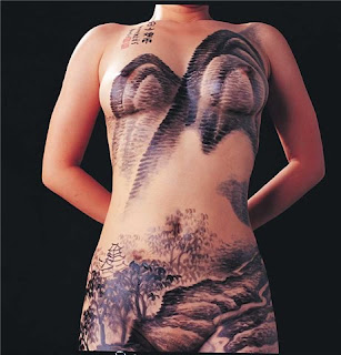 Mountain Chinese Design For Body Painting Art