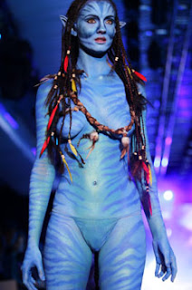 Avatar Look In Art Body Painting Themes