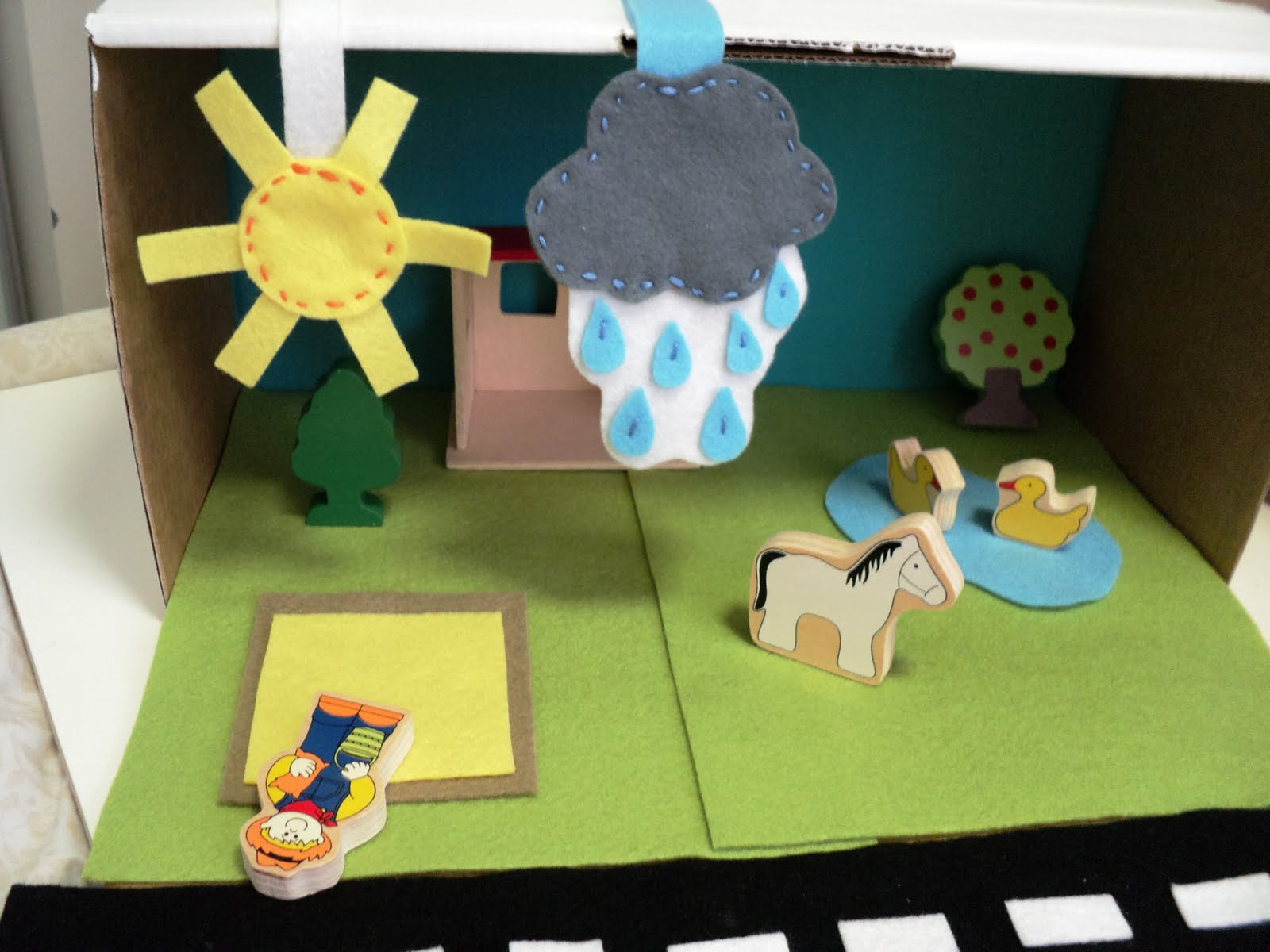 A Little Learning For Two Weather Changing Diorama