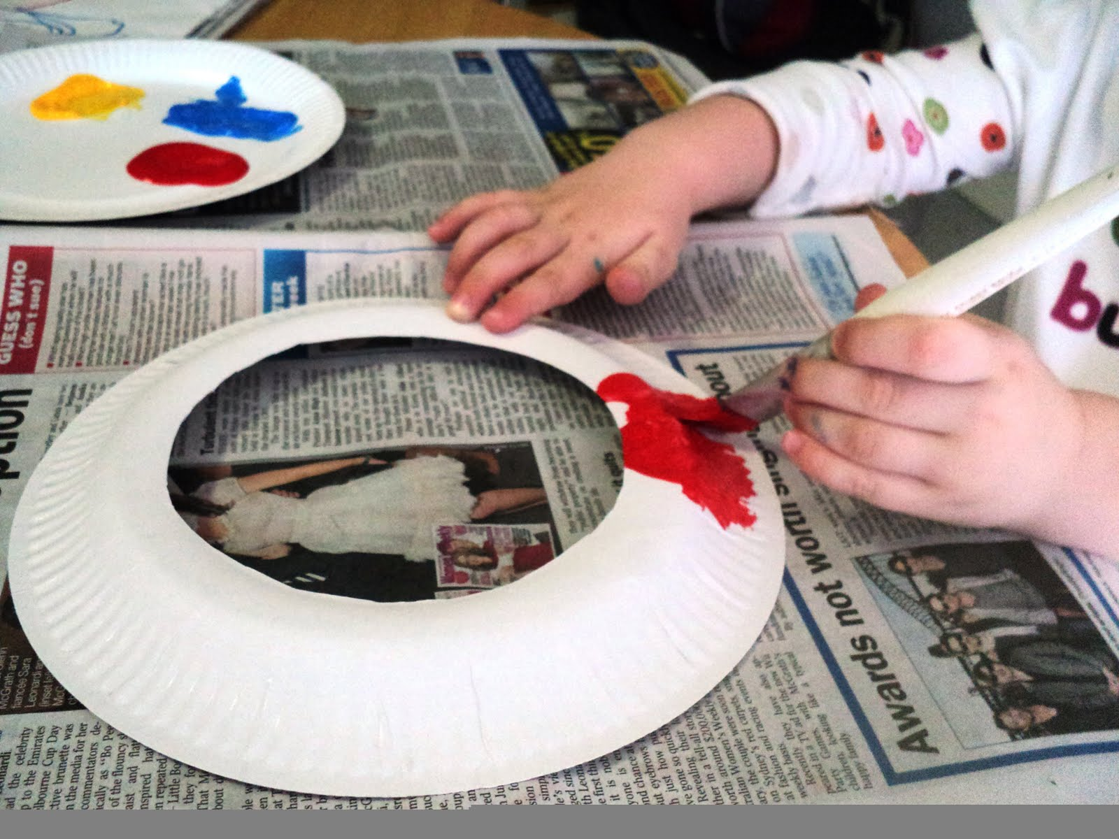 Ring toss games for kids - Paper Plate Ring Toss Game