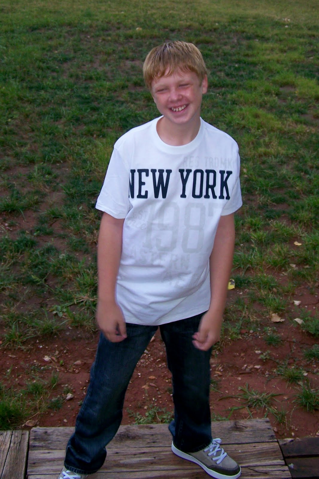 john in his perfect 1st day of school outfit to start 7th grade it ...