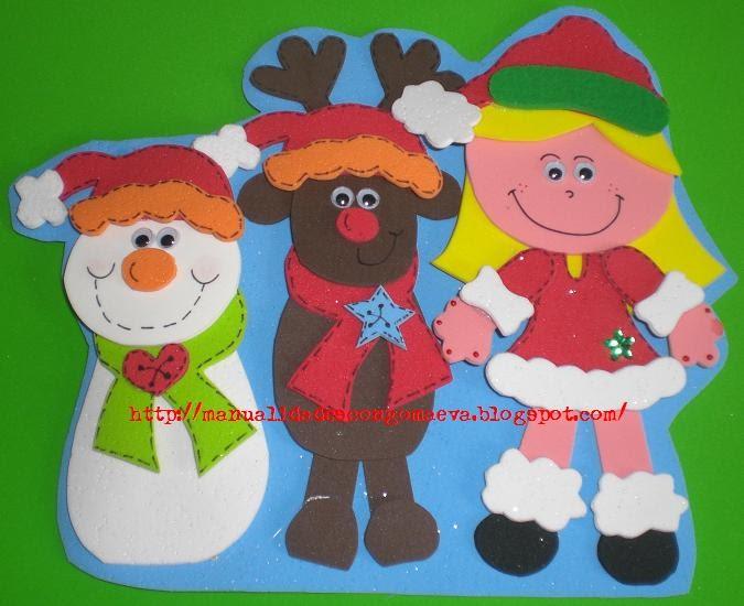 Mis manualidades con goma eva y otras cositas navidad for Manualidades con goma eva para navidad