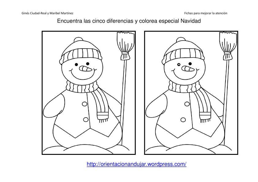 Recopilaci n actividades para trabajar la ud el invierno for Actividades de navidad para colorear