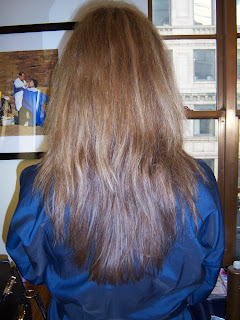 Brazilian blowout before