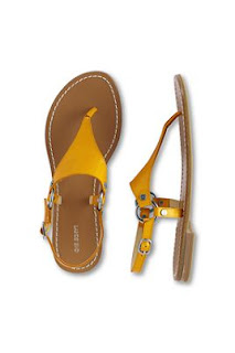 Lands End yellow sandals