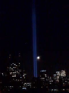 Ground Zero beam of light