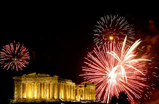 Athens New Year's Eve 2009