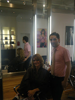 Devin Toth with Hope at Ted Gibson Salon NYC