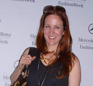 Annie Fritz backstage at fashion week