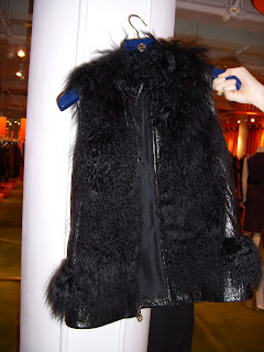 tory burch furry vest
