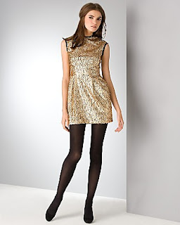 Vegas outfit gold sequins