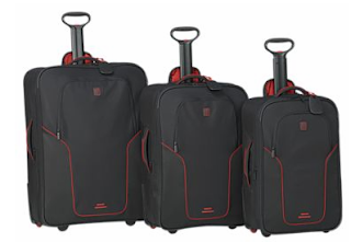 crate and barrel Tumi luggage