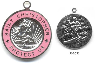 St. Christopher Medal in Pink