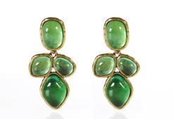 oscar de la renta emerald earrings