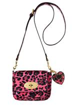 mulberry for target pink leopard cross body bag