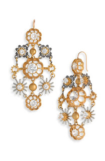 Juicy Couture Snowflake Chandelier Earrings