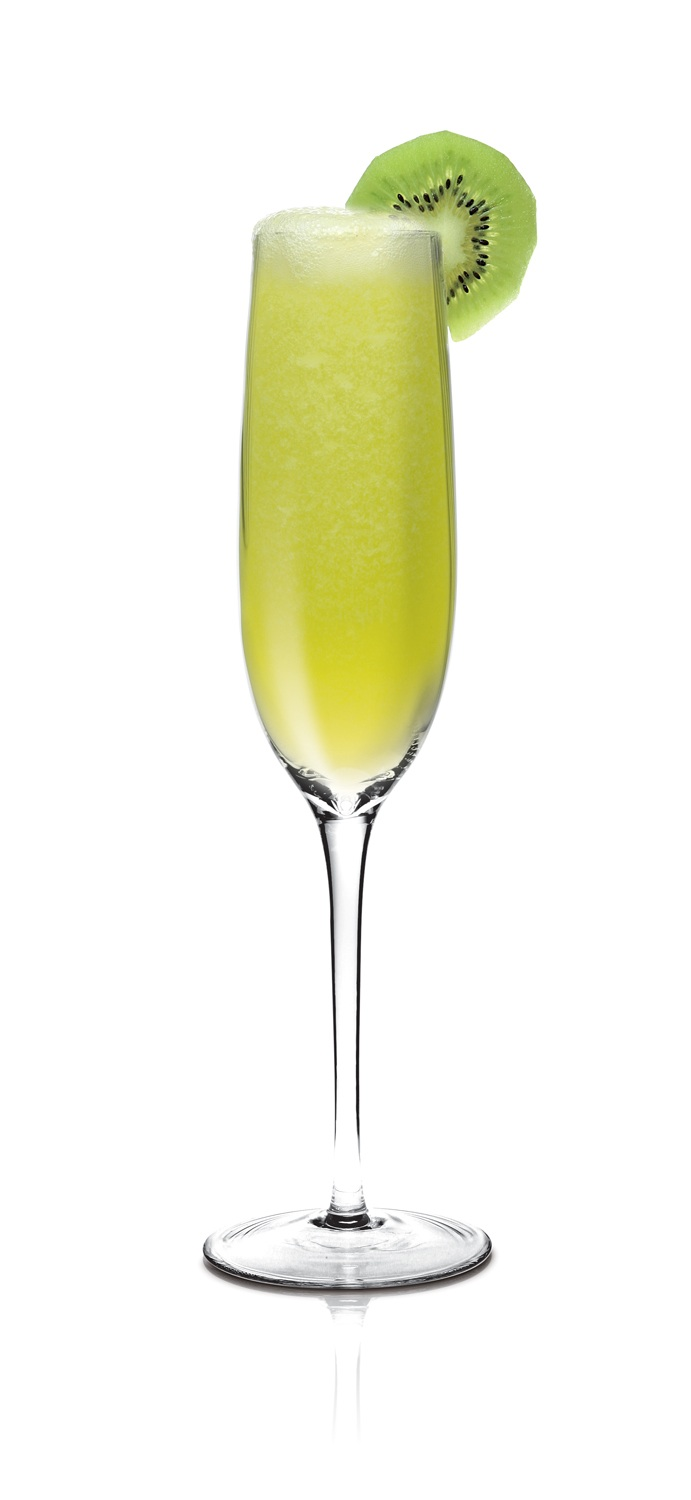 Champagne cocktails jet set girls for Cocktail kiwi vodka