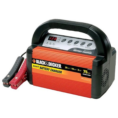 Garage battery charger