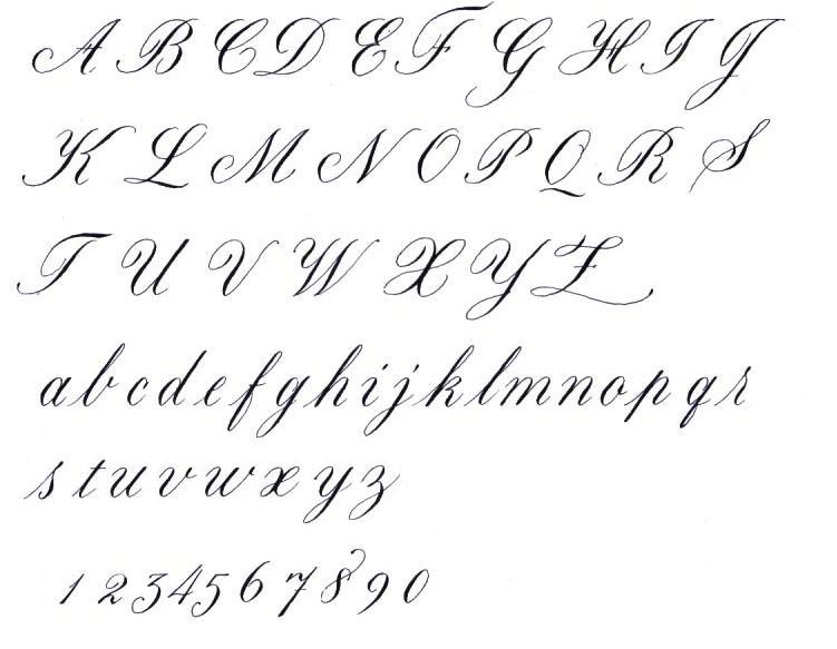 Cursive Calligraphy Alphabet on calligraphy art worksheets