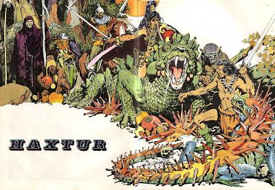 Ilustración de portada para Haxtur II.