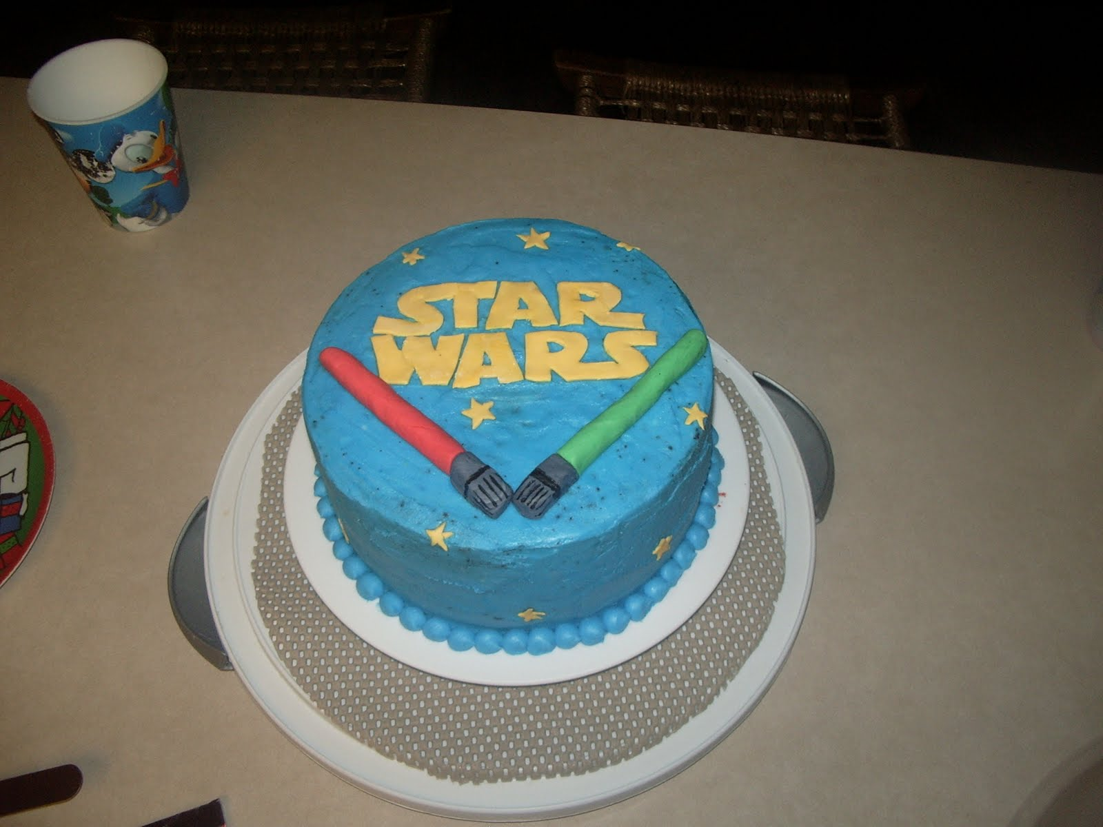 S and j crafts star wars cake - Star wars birthday cake decorations ...